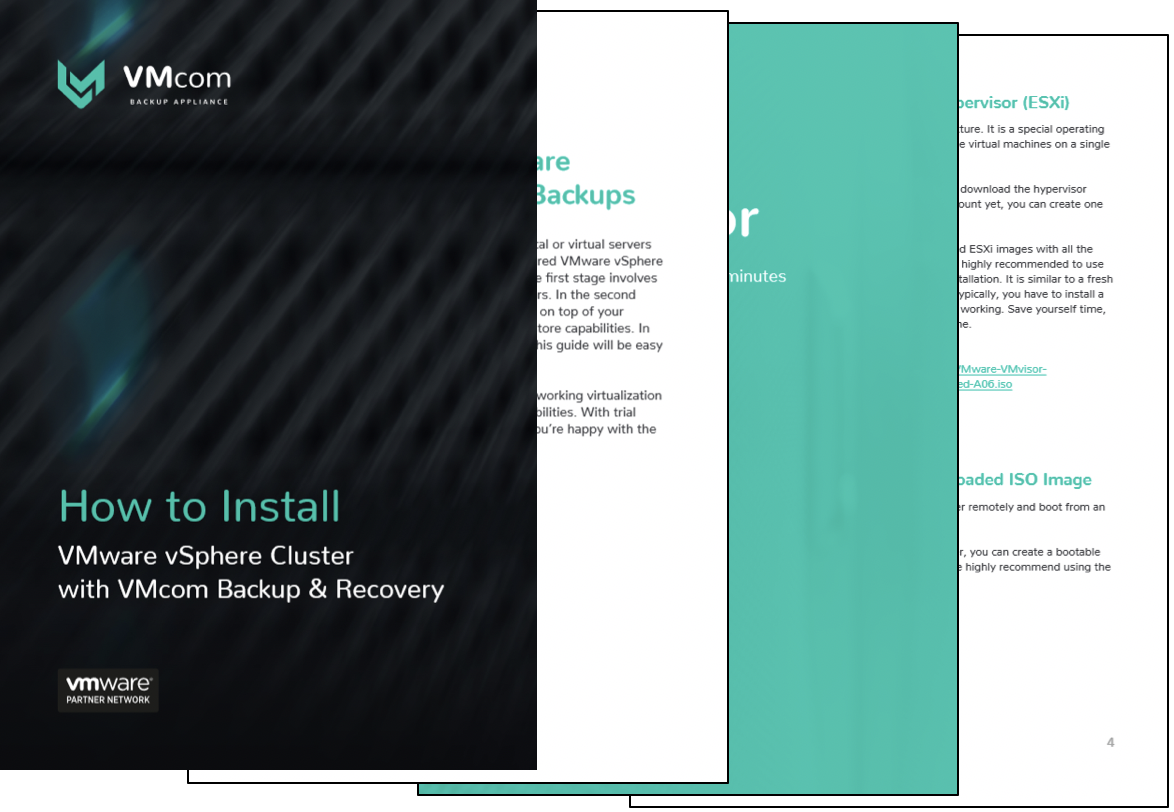 Your How To eGuide on creating a virtual environment connected to VMcom Backup & Recovery